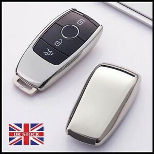 Silver Key Cover Case For Mercedes A C E S G Class CLS GLC GLE 2 3 4 Button t71*