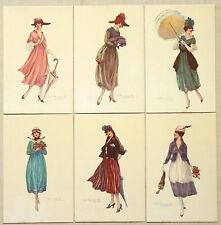 Bompard - Serie Set 6 Cards - Glamour Lady - Non Viaggiate - ST233