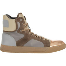 Auth Lanvin Hightop leather sneakers army green color w rose gold sz 12 45