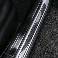 Universal 2pcs Carbon Fiber Door Sill Car Scuff Plate Cover Panel Step Protector
