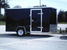 6x12 Enclosed Cargo Trailer V-Nose Utility Motorcycle Lawn 10 Landscape 14