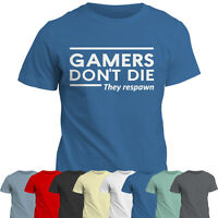 T-Shirt | Gamers Don't Die They Respawn TShirt | Geek | Video Game | Gift