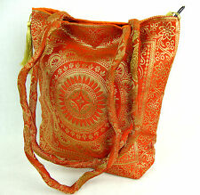 Indian Silk Hand Bag, lined in cotton, with zip, inner pocket