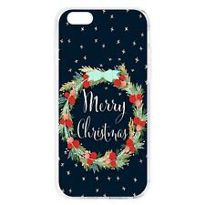 Merry Christmas Pattern Soft TPU Back Phone Case Cover for iPhone Samsung Huawei