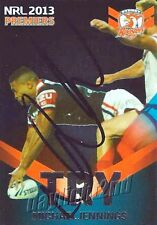 ✺Signed✺ 2013 SYDNEY ROOSTERS NRL Premiers Card MICHAEL JENNINGS