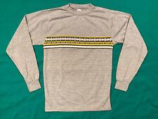 VTG 70s Longsleeve Knit T Shirt Small XS Gray Yellow Black Striped Donmoor