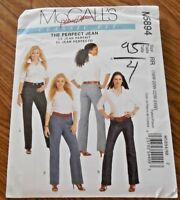 NEW McCall's Classic Fit Pattern M 5894 Misses's Plus sz 18W-24W  Jeans