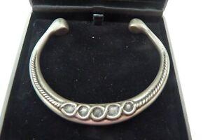 Hand crafted St Justin pewter torc bracelet