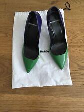 Pierre Hardy deux tons vert violet Talons Escarpins Chaussures 37 1/5 UK 4.5 US 7.5