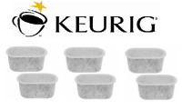 (6) GENUINE Keurig Coffee Charcoal Water Filter Cartridge Replacement UNIVERSAL