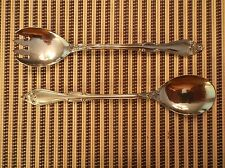 2 Piece Silver Plate Salad Set, Made in Italy for Oneida