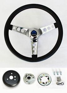 "1970-87 Dodge Ram D100 D200 D300 Pick Up 2WD Truck Black Steering Wheel 13 1/2"""