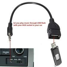 3.5mm Male AUX Audio Plug to USB 2.0 Female Jack OTG Car MP3 USB Drive