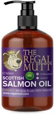 The Regal Mutt - 500 ml Salmon Fish Oil for Dogs Natural Nutritional Supplement