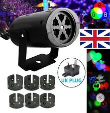 Mini Sound Active Stage Light LED Laser Projector RGB Xmas Disco Party Lighting