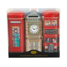 British Heritage Tea Selection Triple Tin Gift Pack 42 Teabags