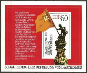 Germany (East) DDR GDR 1975 MNH 30th Anniv Liberation Soldier Block 42 MSE1758
