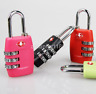 TSA Security 3 Digit Combination Travel Luggage Bag Code Lock Padlock AU
