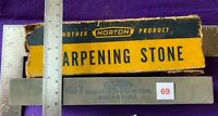Vintage NORTON ABRASIVES QUEER CREEK Sharpening Stone KB-7