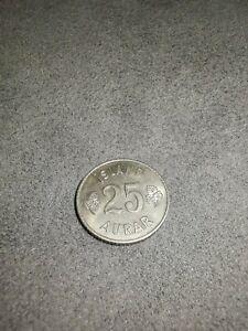 Iceland 25 aurar 1966 KM11