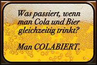 Bier Beer Colabiert Blechschild Schild gewölbt Metal Tin Sign 20 x 30 cm CC0134