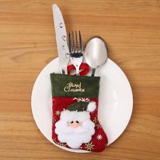 New Year Chrismes Stocking Cutlery Set Holder Christmas Kitchen  Decoration