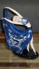 "Rare 14"" Vtg Goldscheider Wien Austria ceramic dancer figurine by Stefan Dakon"