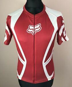 FOX Racing MTB Cycling Jersey Men's Size M Full-Zip Short Sleeve Bike Shirt