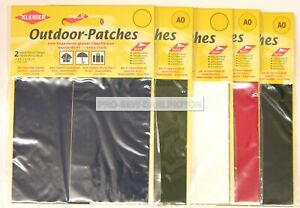 2 x Heavy Duty Outdoor Self Adhesive Repair Patches Tents etc (Choice Of Colour)