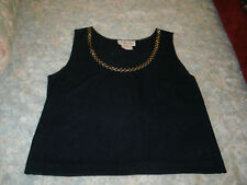 Alachka ladies navy blue tank top size small