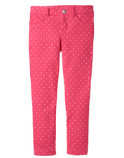Nwt Gymboree Spring Forward Girl Pink Polka Dot Skinny Pants Leggings Jeggings 6