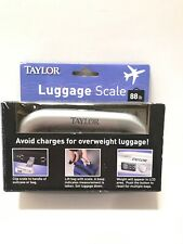 TAYLOR LUGGAGE SCALE Clip To Suitcase/UP TO 88 lbs.