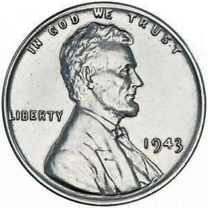 1943-P USA LINCOLN WHEAT STEEL CENT WONDERFUL UNC GEM SUPERB COIN BU