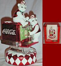 Coke Polar Bear Soda Jerks Soda Fountain Music Box Coca-Cola Musical Collection