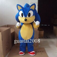 2017 Sonic Hedgehog Mascot Costume Cartoon Fancy Dress Halloween Cosplay Costume