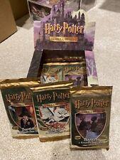 More details for harry potter base set sealed booster pack x3 artset   wotc   tcg   rare vintage!