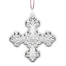 NEW 2016 Reed Barton 46th Annual Sterling Xmas Cross Ornament Pendant Medallion