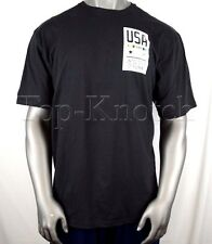 ADIDAS Mens USA United State Of Running Go To Tee Shirt Black, Men's Medium