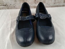 Dr Scholl's Navy Leather Gel Cushion Maryjanes size 5.5