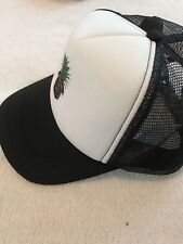 Polyester Trucker Style Hat Mesh Back Adjustable Tab Cap Pineapple Dog Face Cap