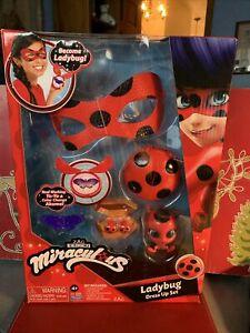 Miraculous Ladybug Dress Up Role Play Set Ladybug Mask Clip on Earrings Yo-Yo!