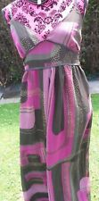 Principles Pink Multi And Black Strappy Maxi Dress Size 10 Holiday Wedding Bnwot