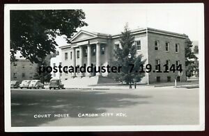 1144 - CARSON CITY Nevada 1940s Court House. Real Photo Postcard