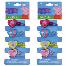 Peppa Pig Girls Elastic Hair Ties Ponies 8-CT