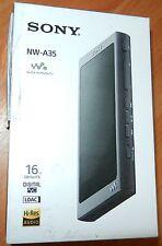 Sony NW-A35 16GB Walkman - Digital Music Player with Hi-Res Audio, Black