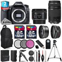 Canon EOS 80D DSLR Camera + 50mm 1.8 + 75-300mm III + 3PC Filter + 2yr Warranty