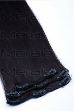 Remy Echthaar Haarverdichtung Clip in Extensions Ergänzungsset 45cm, 55cm, 60cm