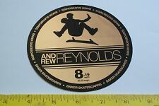 HUGE VTG BAKER ANDREW REYNOLDS ERA SKATEBOARD OLD NEW SCHOOL NOS STICKER big hat