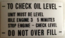 """YAMAHA XS500 """"TO CHECK OIL LEVEL""""CAUTION WARNING DECAL"""