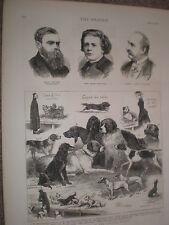 Dog Show at Crystal Palace J C Dollman 1876 print ref V